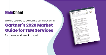 MobiChord Recognized in Gartner 2020 Market Guide for Telecom Expense Management Services